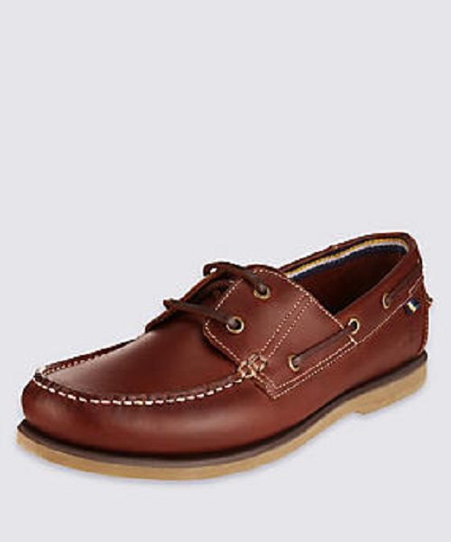 Marks & Spencer Brown leather Mocassin